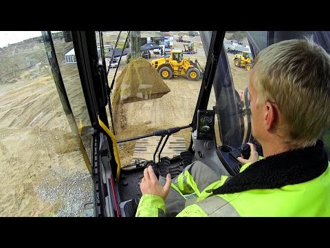 New Volvo EC380E Excavator Test Drive: Cab View