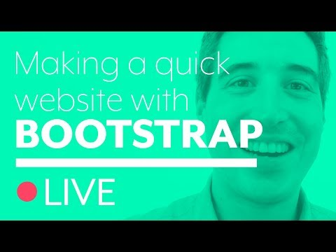 Building a quick site with Bootstrap 4