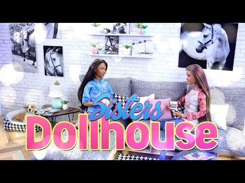 DIY - How to Make: Dollhouse - Living Room - Custom - Recycled - Dollhouse - 4K