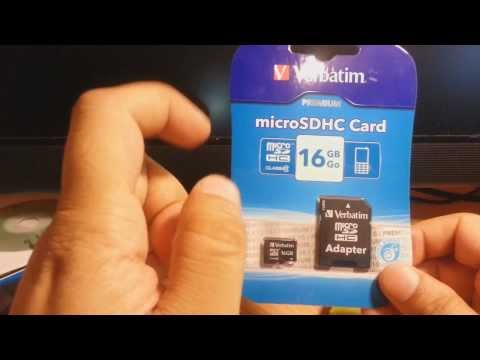 Verbatim 16 Gb Clase 10 Micro Sd Sdhc card unpack and review