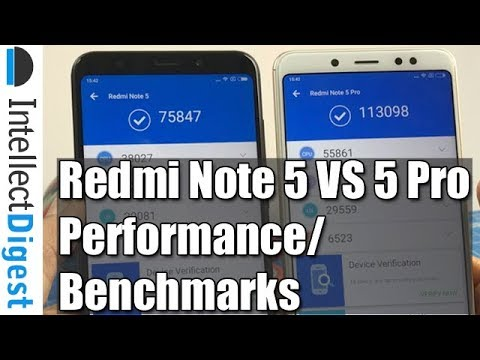 Hindi- Redmi Note 5 VS Redmi Note 5 Pro Benchmarks & Performance Comparison | Intellect Digest