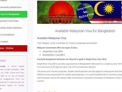Malaysia visa from Bangladesh