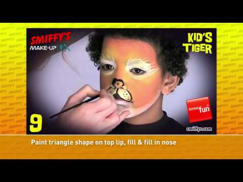 Tiger Face Painting Make up Tutorials for Children