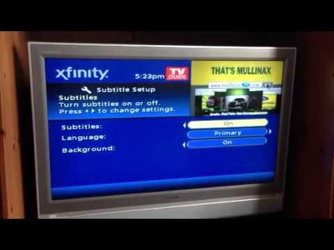 Comcast subtitle toggle