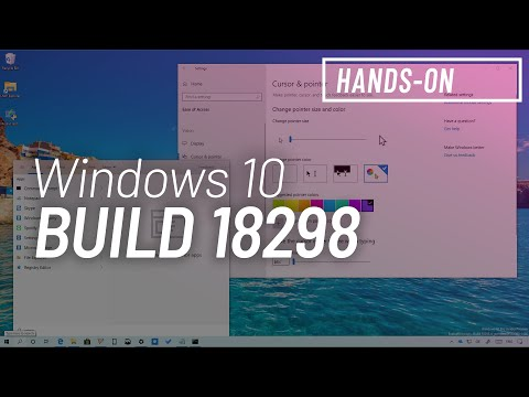 Windows 10 build 18298: Hands-on with Security key, File Explorer, Cursor Colors, Notepad, and more