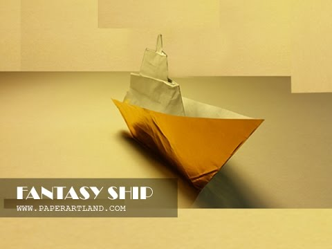 Origami for Kids: How to make an origami boat that Floats on Water | Fantasy Ship