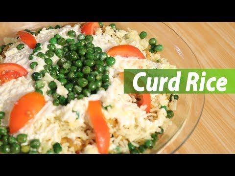 How to make curd rice | Mallika Joseph Food Tube