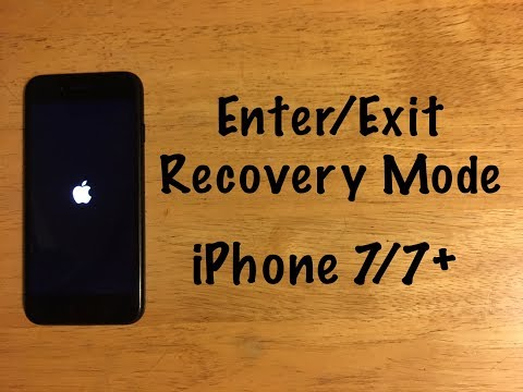 How to Enter / Exit Recovery mode - iPhone 7 / 7 Plus