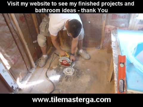 Part 1. How to replace , install walk-in tile shower drain and p-trap  -- 2