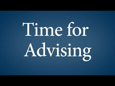Time for Advising - Student Accessibility Services