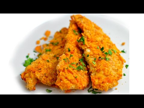 Baked Dorito Breaded Chicken Tenders - Eggless!