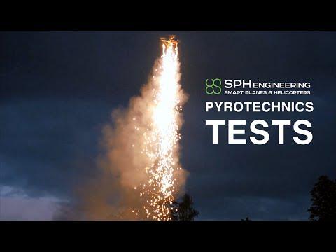 DRONE WITH SMOKE / FIREWORKS / PYROTECHNICS