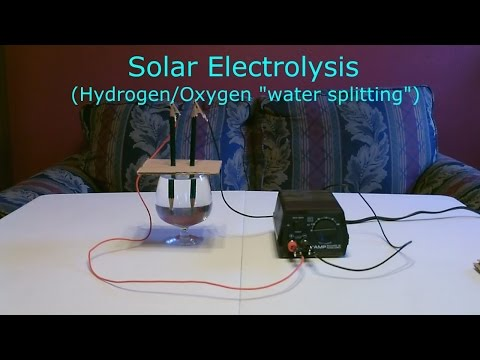 Solar Hydrogen/Oxygen Generator DIY - Simple