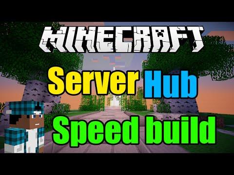 Hub speed build// Minecraft