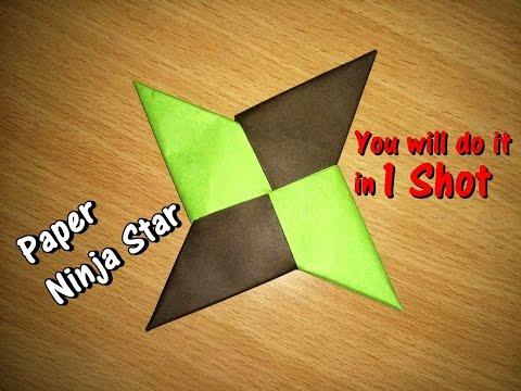 How To Make a Paper Ninja Star (Shuriken) - Origami - Simple Steps || Art for Children