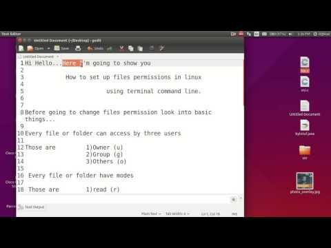 Change files permissions using terminal in linux