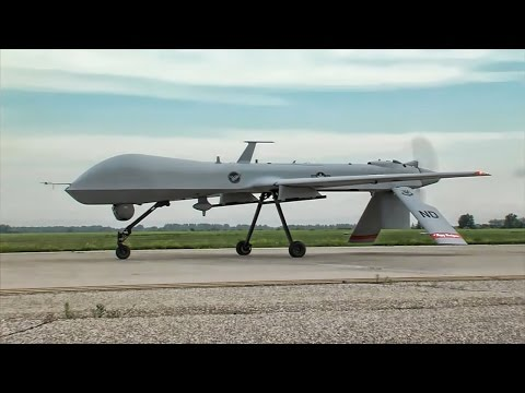 MQ-1 Predator Drones Takeoff & Land