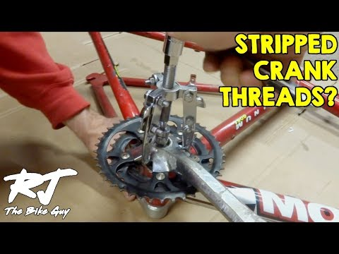 How To Remove Crank Arm With Stripped Threads