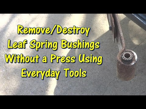 Use Everyday Tools to Remove Leaf Spring Bushings by @GettinJunkDone