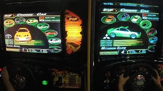 The Fast And The Furious Arcade Game: Rocky vs Piper & Doc vs E.L. - Dual Screen Gameplay Video