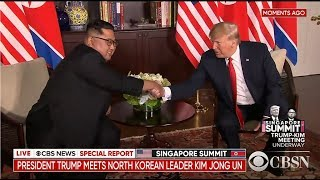 Live: Continuing coverage of the North Korea summit as Kim Jong Un and Trump hold historic meeting