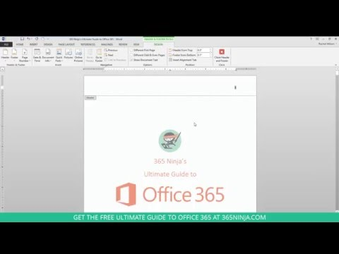 How to Add Page Numbers to Word Online and Word 2013/2016 Docs