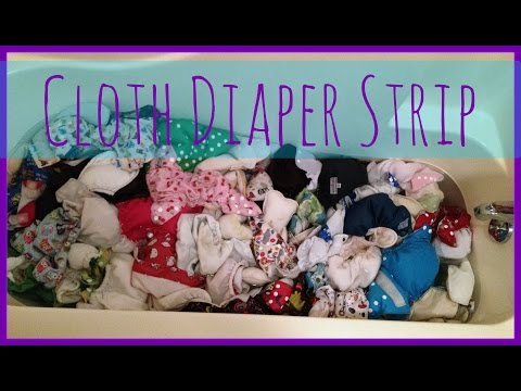 How to strip & sanitize cloth diapers