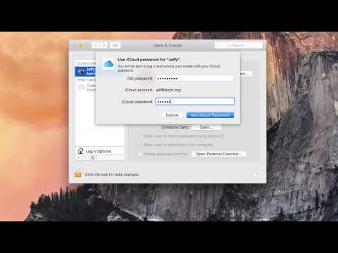 iCloud Password - OS X Yosemite Starter Guide