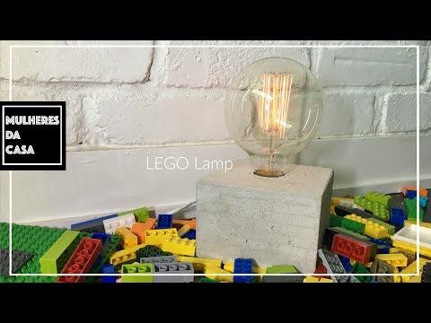 Concrete Lamp With LEGOS