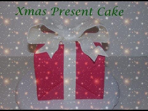 Gift box cake  - Day 1