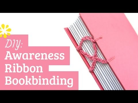 DIY Awareness Ribbon Notebook | Coptic Stitch Bookbinding Tutorial | Sea Lemon