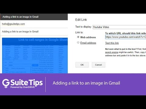 Adding a link to an image in Gmail