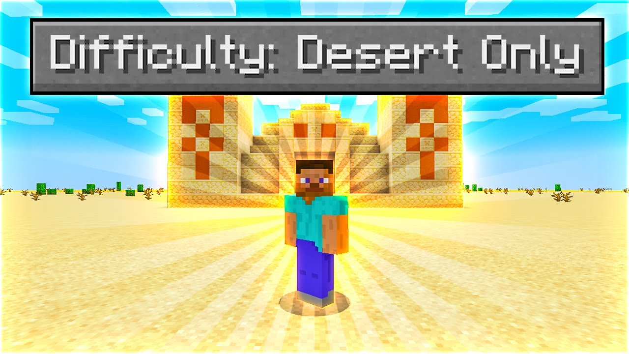 Can You Beat Minecraft In A Desert Only World?