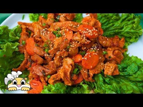 Korean Spicy Pork Recipe - How to make Korean Spicy Pork - Jeyukbokkeum (제육볶음)