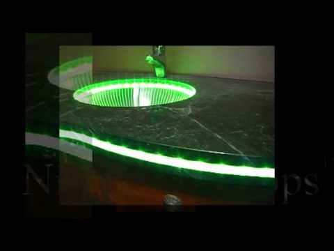 Nightlight Tops Countertops By Crafted Custom Lighted Led Fiber Optic Concrete Sidewalk Installation