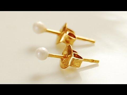 DIY Faux Stud Pearl Earrings!