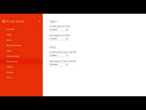 How to Change your Screen and Sleep Timeout Settings on Windows 8.1