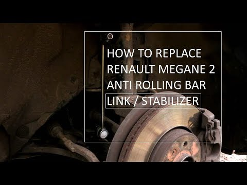 How to replace Renault Megane 2 front anti roll bar link