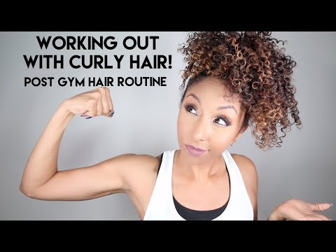 Working Out With Curly Hair! Post Gym Hair Routine | BiancaReneeToday