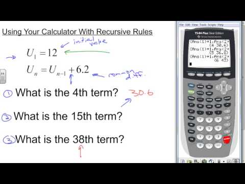 Finding the nth Term of a Recursive Rule with Your Calculator