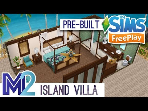 Sims FreePlay - Private Island Villa (Pre-Built Template)