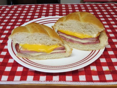 Ham and Cheese Sandwich~Easy Toaster Oven Recipe