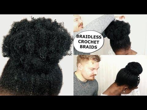 BRAIDLESS CROCHET BRAIDS - NO CORNROWS - HOW TO