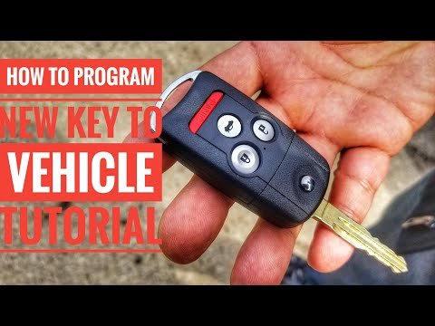 HOW TO PROGRAM A CAR KEY TO YOUR VEHICLE QUICK AND EASY TUTORIAL HONDA ACURA