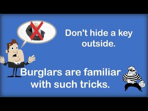 How to Discourage Burglars?