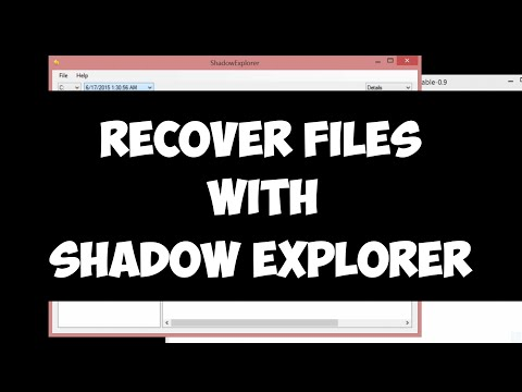 Recover deleted files with Shadow Explorer