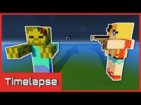 Minecraft Timelapse | Zombie Slayer Statue