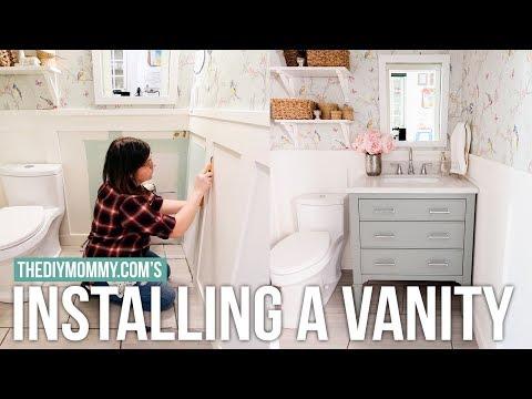 QUICK Bathroom Vanity Installation Tips | The DIY Mommy