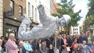 Silver man secret revealed from start to finish, floating and levitating trick