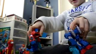Transformers rescue bots optimus prime and t-rex